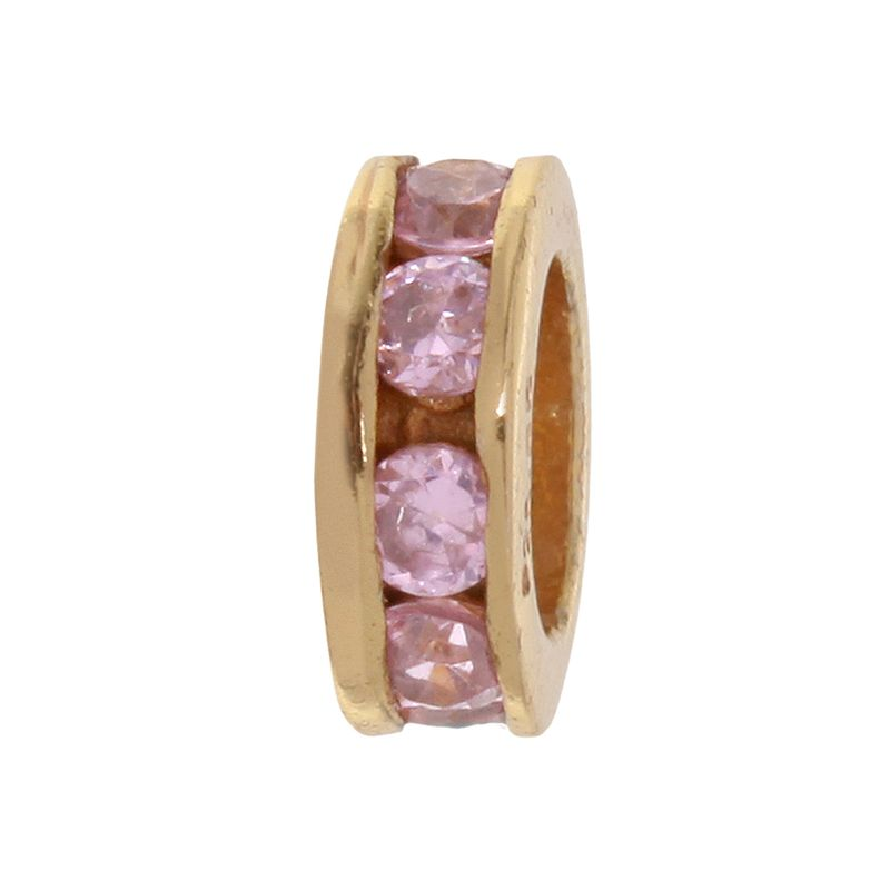 Individuality Beads Crystal 24k Gold Over Silver Spacer Bead