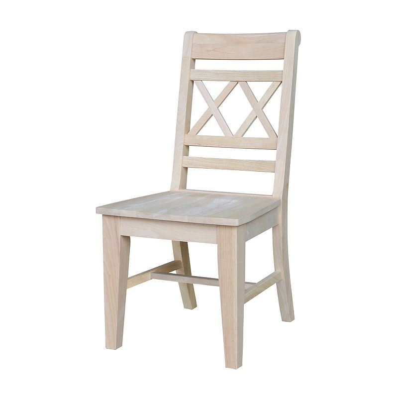 International Concepts 2-piece Canyon Double X-Back Chair Set