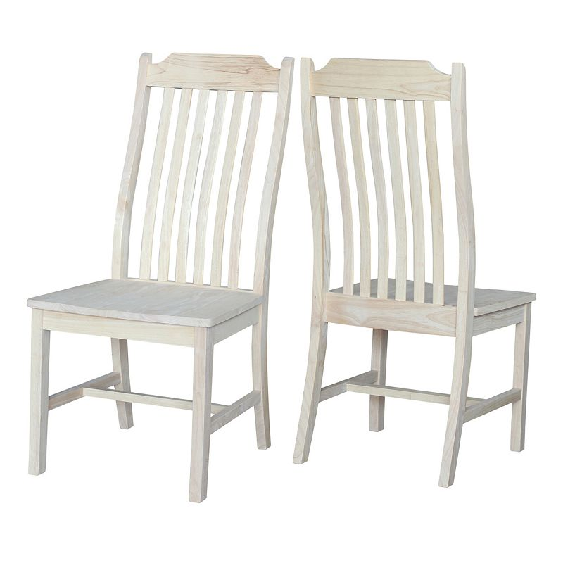International Concepts 2-piece Steambent Mission Chair Set