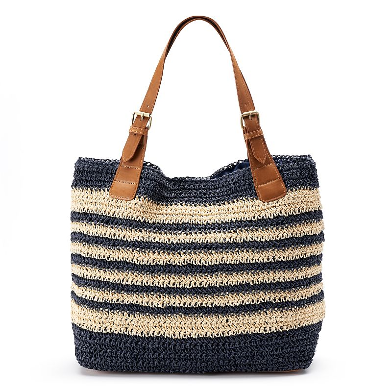 SONOMA Goods for Life™ Straw Bucket Tote