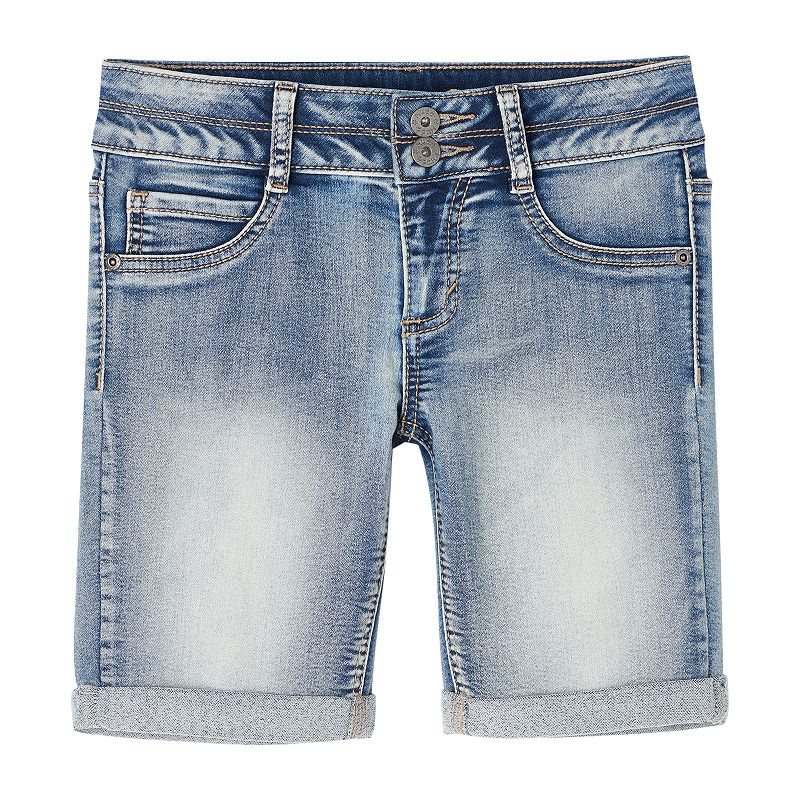 Girls 7-16 & Plus Size Mudd® Faded Denim Bermuda Shorts