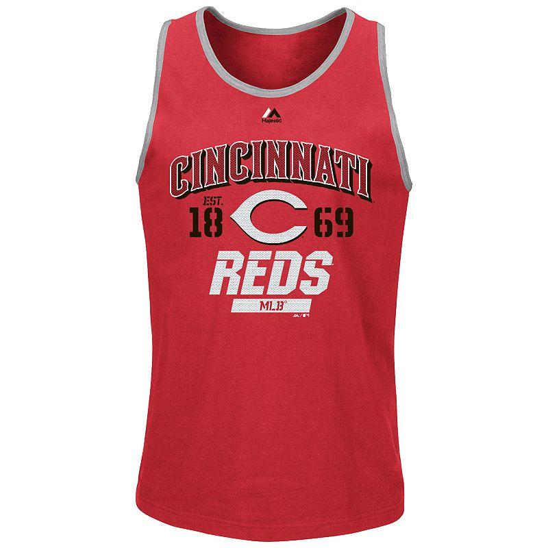 Men's Majestic Cincinnati Reds Flawless Victory Tank