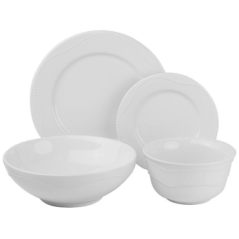 10 Strawberry Street Nova Beaded 19-pc. Dinnerware Set