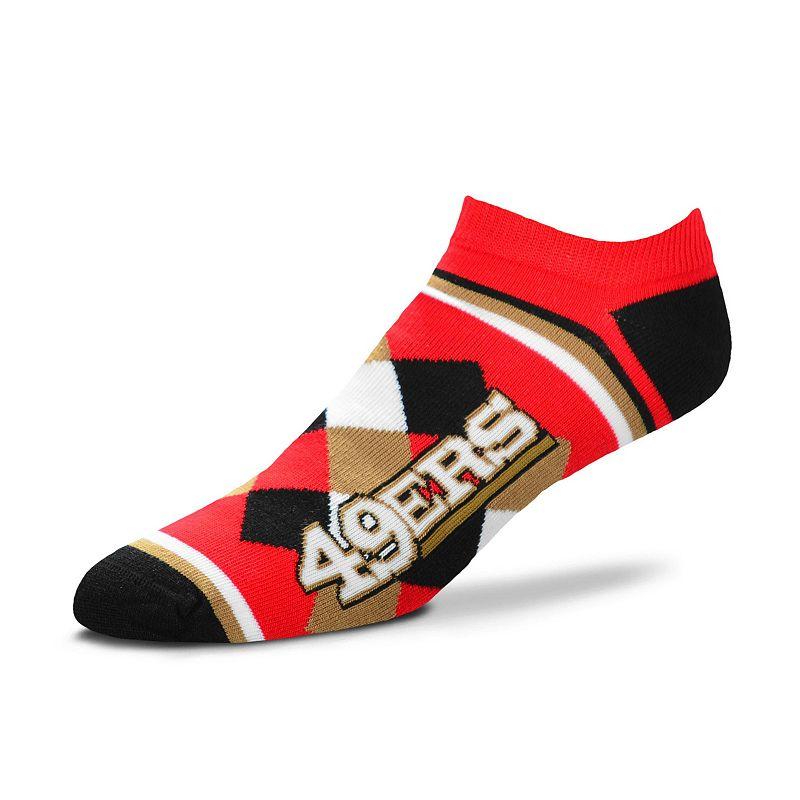Women's For Bare Feet San Francisco 49ers Argyle No-Show Socks