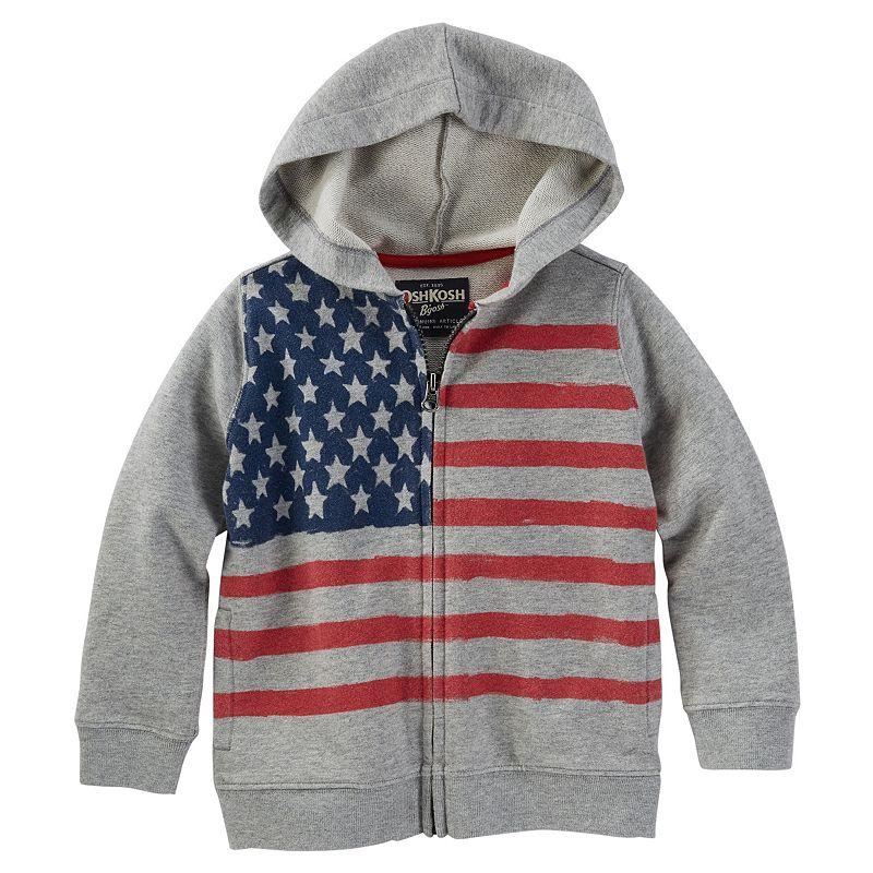 Boys 4-7x OshKosh B'gosh® Patriotic American Flag Zip-Front Hoodie