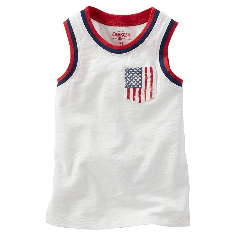 Boys 4-7x OshKosh B'gosh® Patriotic American Flag Pocket Tank