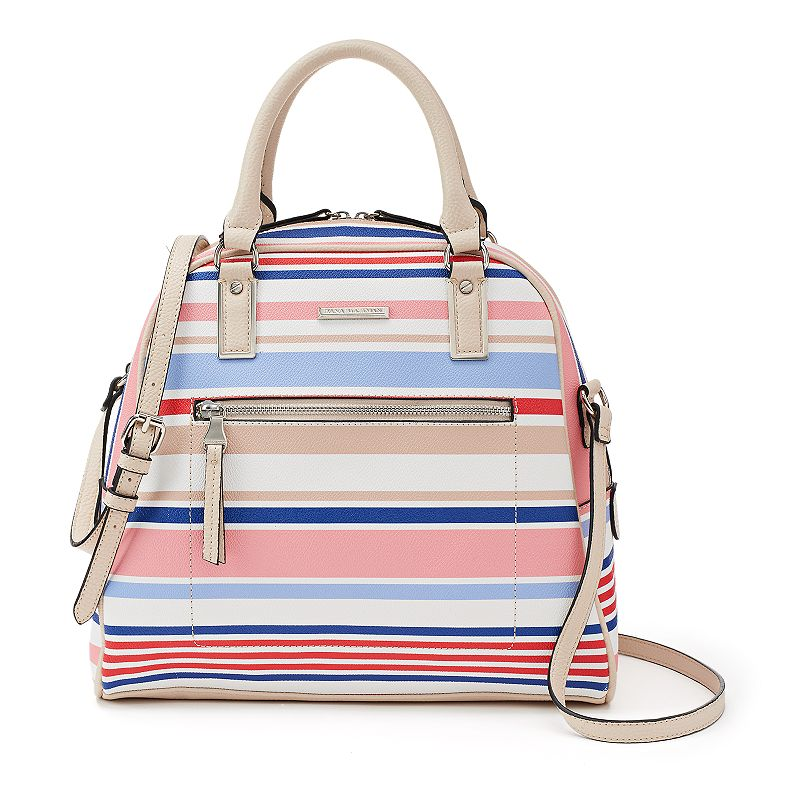 Dana Buchman Striped Dome Convertible Satchel