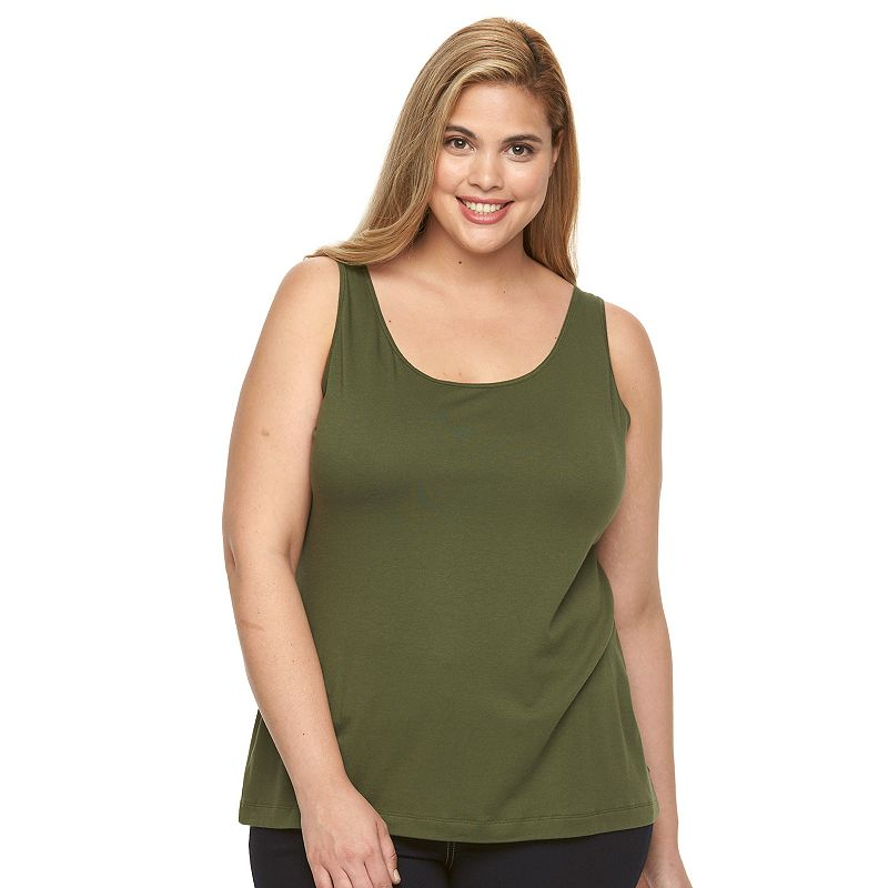 Plus Size Apt. 9® Everyday Scoopneck Tank