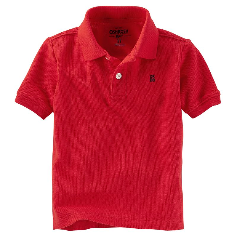 Toddler Boy OshKosh B'gosh® Red Solid Polo Shirt