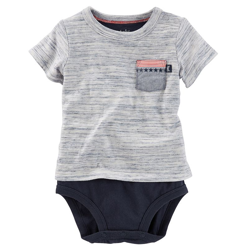 Baby Boy OshKosh B'gosh® Space-Dye Mock-Layer Bodysuit