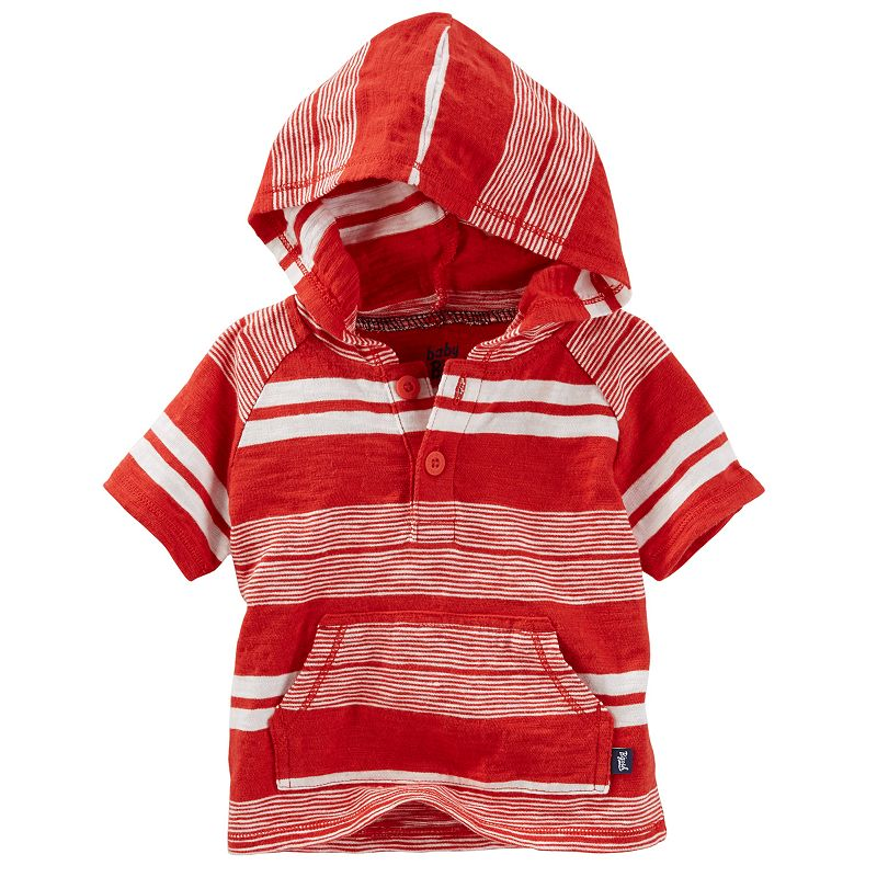 Baby Boy OshKosh B'gosh® Striped Hooded Henley