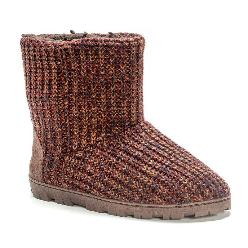 MUK LUKS Women's Marled Knit Boot Slippers