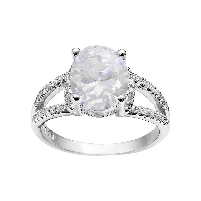Cubic Zirconia Oval Ring