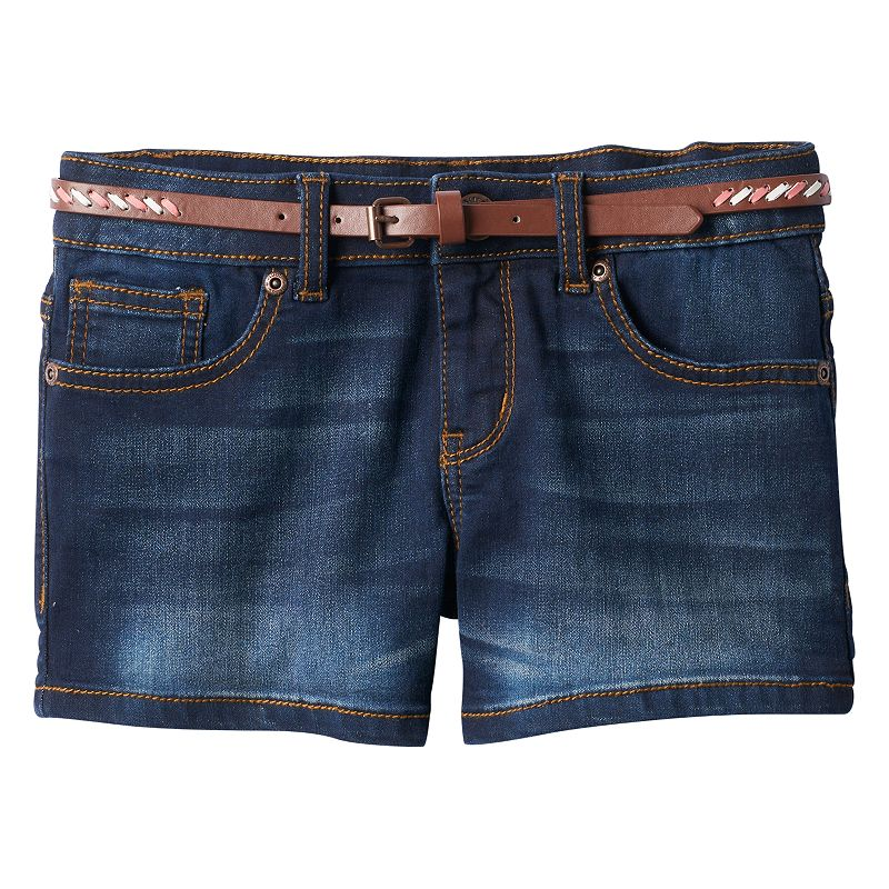 Girls 7-16 & Plus Size Mudd® Whiskered Denim Shorts