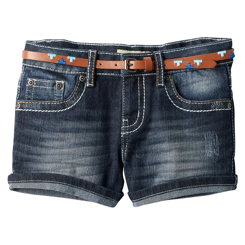 Girls 7-16 & Plus Size Mudd® Roll Cuff Denim Shorts