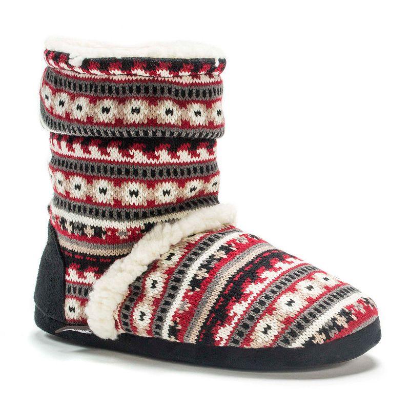 MUK LUKS Women's Marled Slouch Boot Slippers