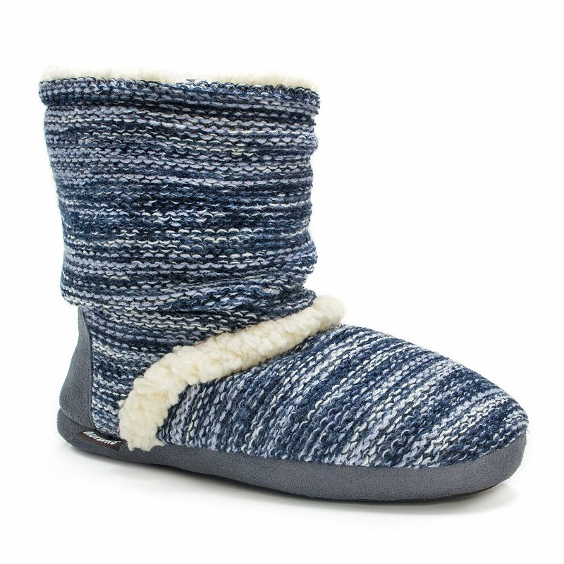 MUK LUKS Women's Marled Slouch Boot Slippers