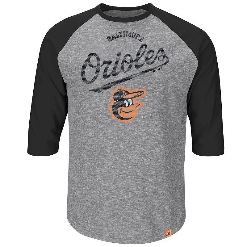 Men's Majestic Baltimore Orioles Fast Win Raglan Tee