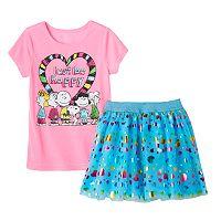 Girls 4-6x Peanuts Tee & Skirt Set