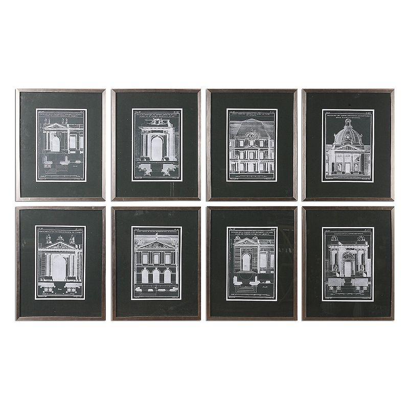 Architechturals Wall Art 8-piece Set