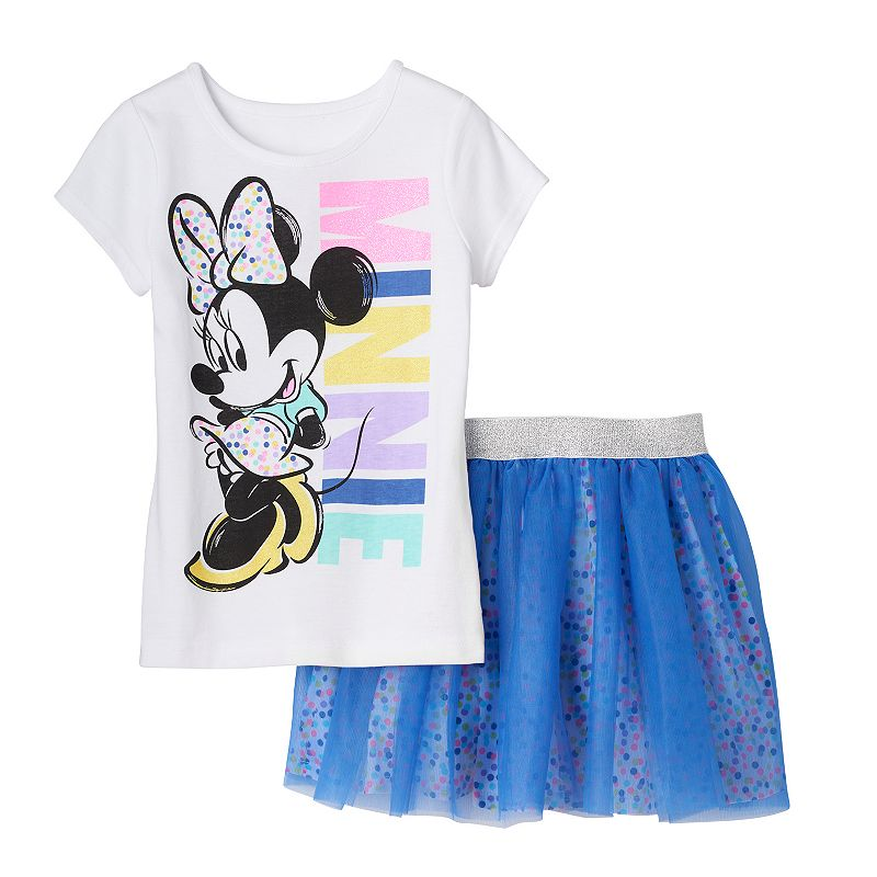Disney's Minnie Mouse Girls 4-6x Tee & Skirt Set