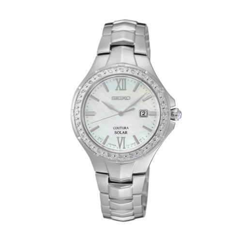 Seiko Women's Coutura Diamond Stainless Steel Solar Watch - SUT239