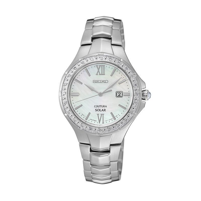Seiko Women's Coutura Diamond Stainless Steel Solar Watch - SUT239
