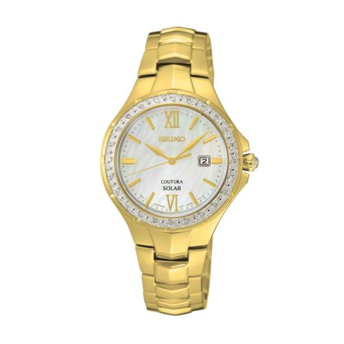 Seiko Women's Coutura Diamond Stainless Steel Solar Watch - SUT242