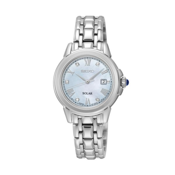 Seiko Women's Le Grand Sport Diamond Stainless Steel Solar Watch - SUT243