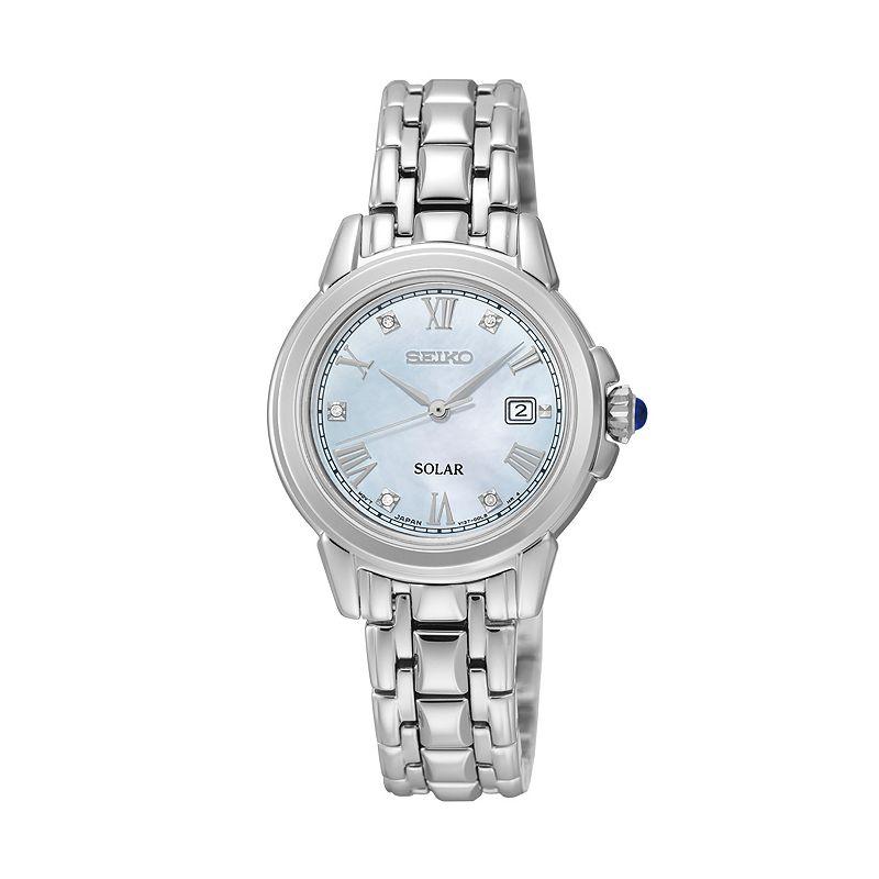 Seiko Women's Le Grand Sport Diamond Stainless Steel Solar Watch - SUT243
