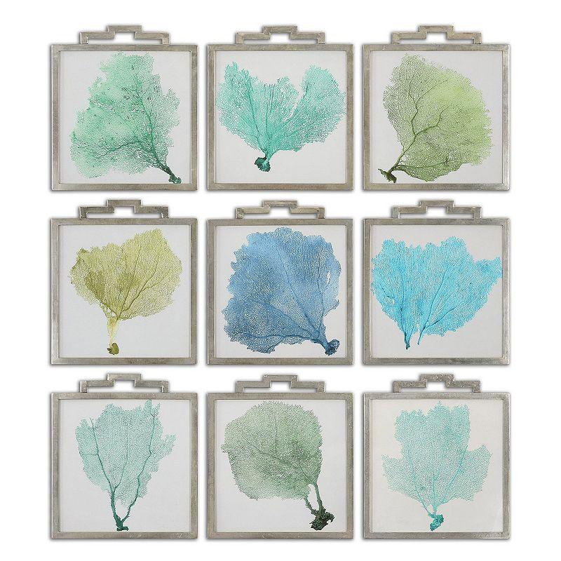 Sea Fans Framed Wall Art 9-piece Set