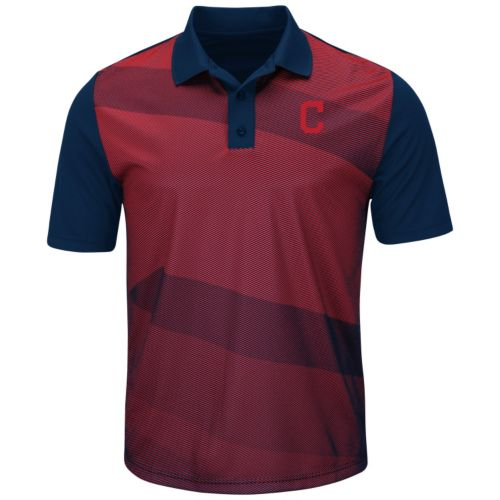 Men's Majestic Cleveland Indians Late Night Prize Polo