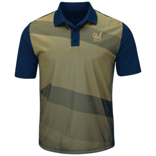 Men's Majestic Milwaukee Brewers Late Night Prize Polo