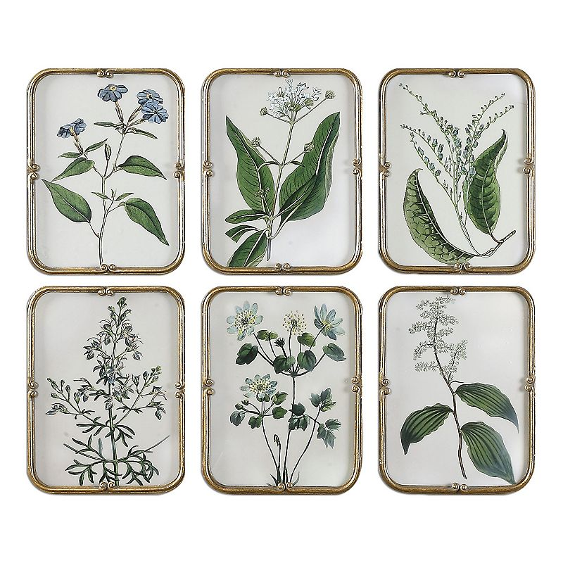 Floral Collection Framed Wall Art 6-piece Set