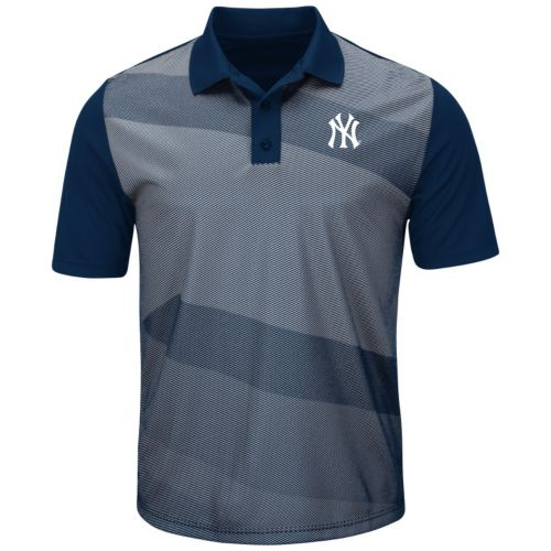 Men's Majestic New York Yankees Late Night Prize Polo