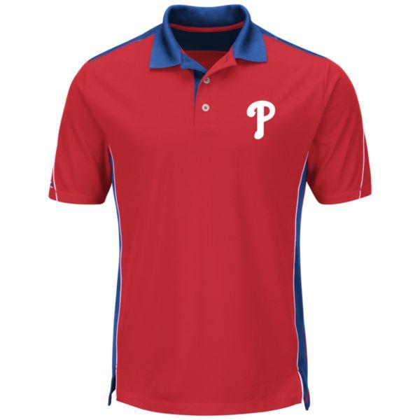 Men's Majestic Philadelphia Phillies To The 10th Power Performance Polo