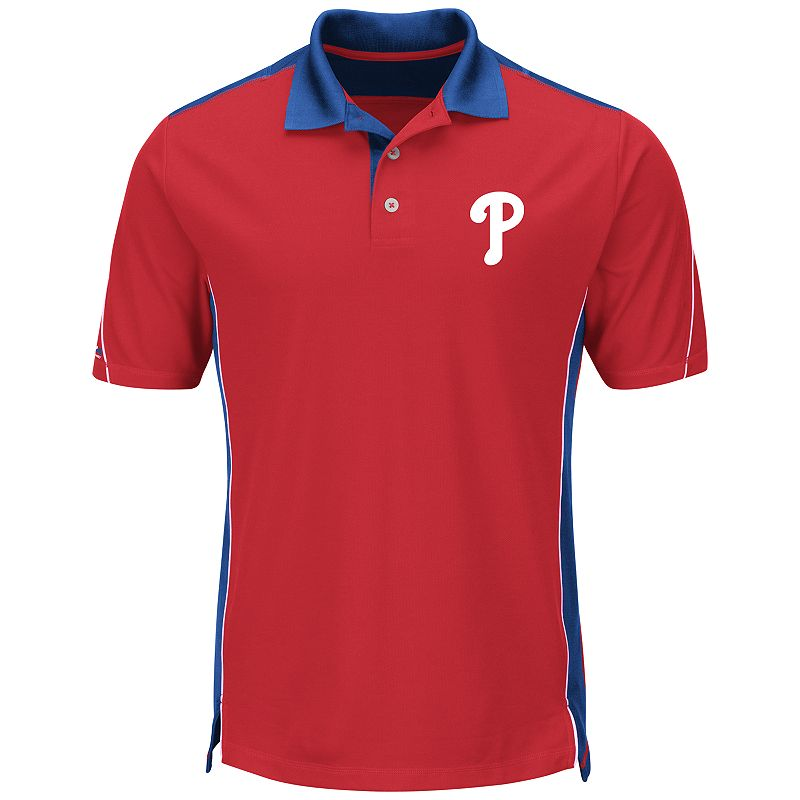 Men's Majestic Philadelphia Phillies To The 10th Power Performance Polo