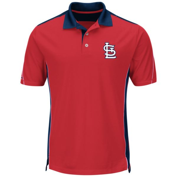 Men's Majestic St. Louis Cardinals To The 10th Power Performance Polo
