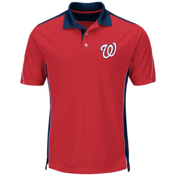 Men's Majestic Washington Nationals To The 10th Power Performance Polo