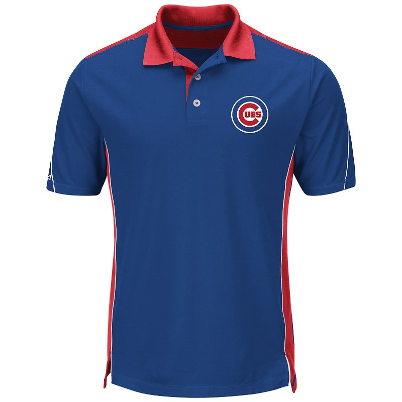 Men's Majestic Chicago Cubs To The 10th Power Performance Polo