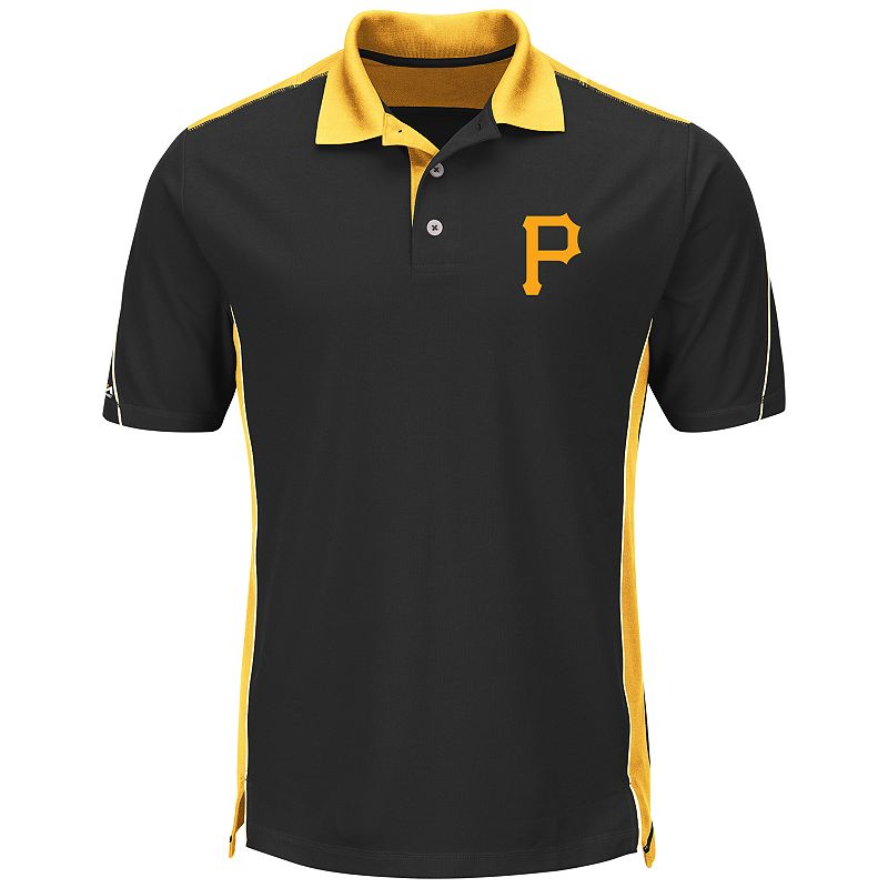 Men's Majestic Pittsburgh Pirates To The 10th Power Performance Polo