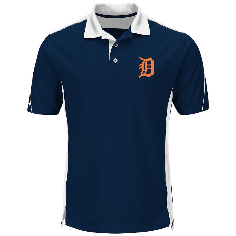 Men's Majestic Detroit Tigers To The 10th Power Performance Polo