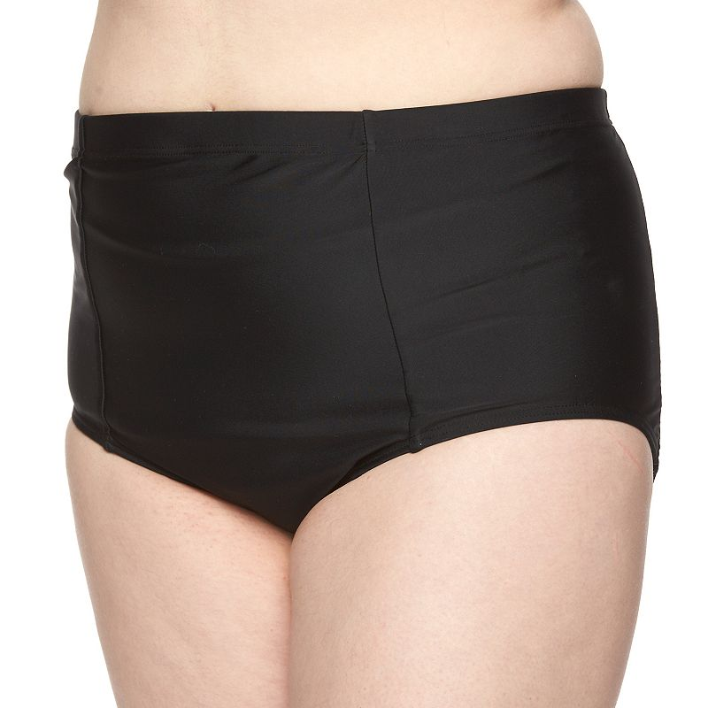 Plus Size Croft & Barrow® High-Waisted Bikini Bottoms