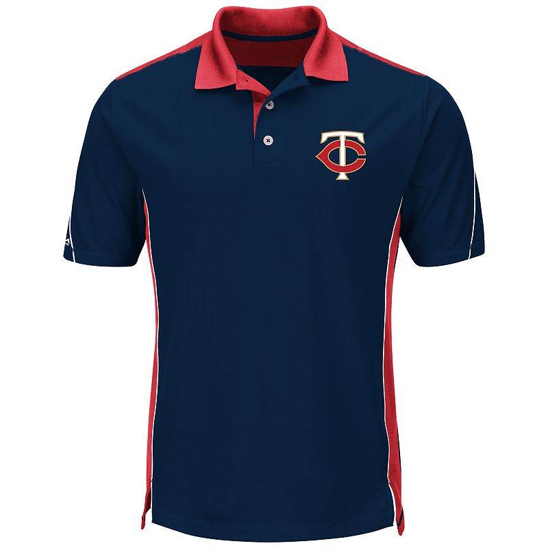 Men's Majestic Minnesota Twins To The 10th Power Performance Polo