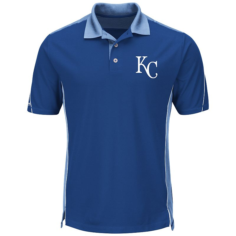 Men's Majestic Kansas City Royals To The 10th Power Performance Polo