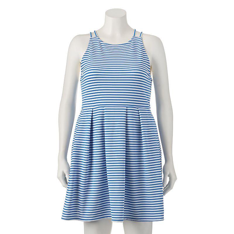 Juniors' Plus Size SO® Striped Skater Dress