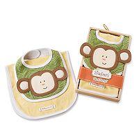 Baby Aspen Animal Bib & Burp Cloth Gift Set