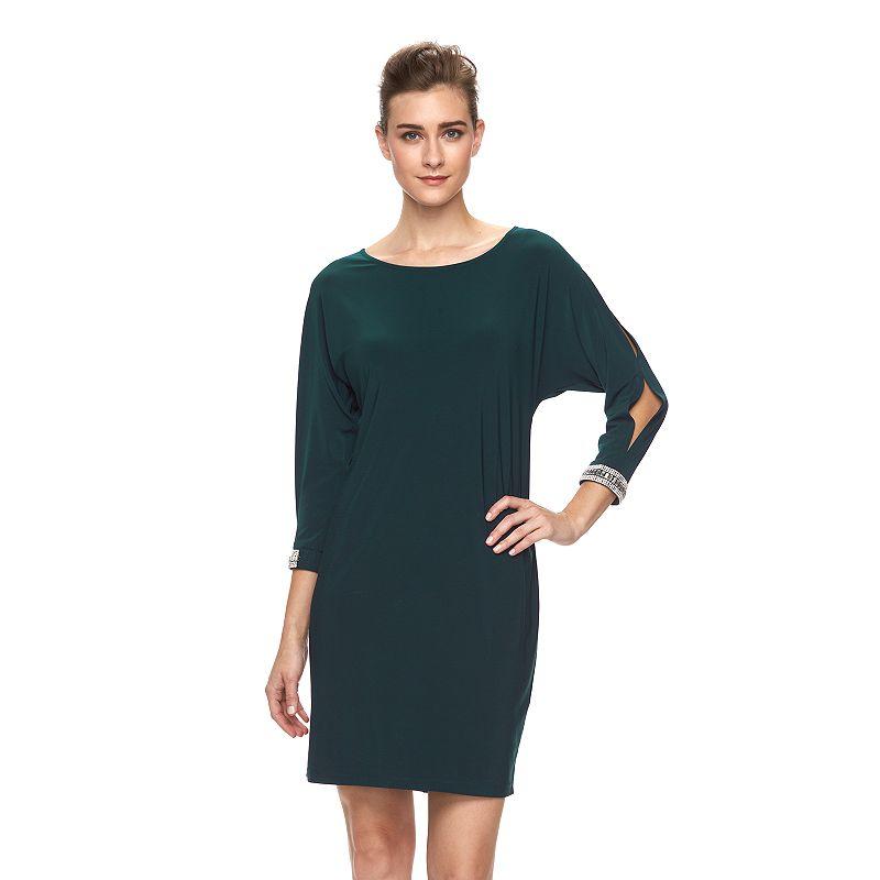 Women's MSK Crewneck Embellished Shift Dress