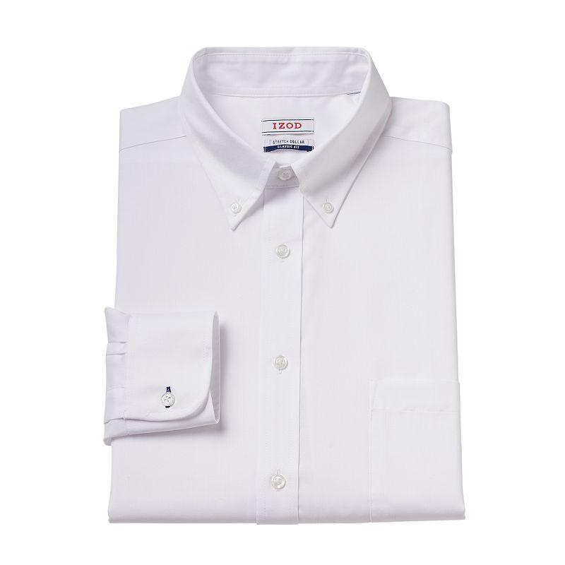 Men's IZOD Athletic-FIt Stretch-Collar Dress Shirt
