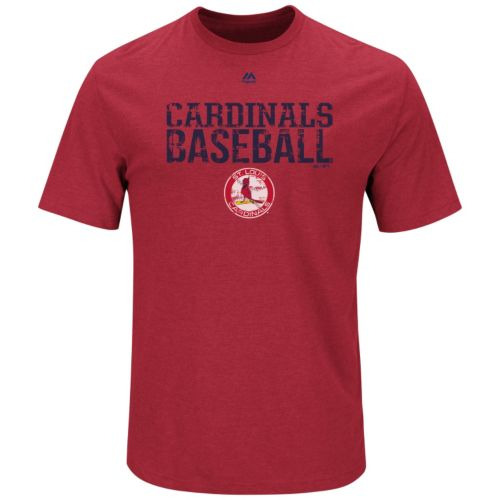Men's Majestic St. Louis Cardinals Cooperstown One Winner Tee